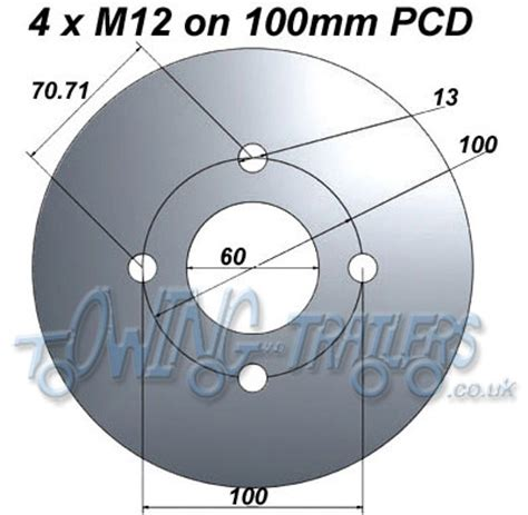 pattern wheel definition trailer wheel pcd how to work out 4 and 5 stud pcd s with