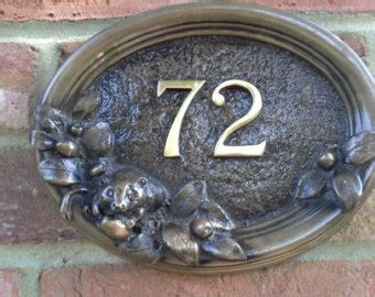 Spuit Wilton No 127 By Cast house number door sign large square 300 mm x 300mm x8mm