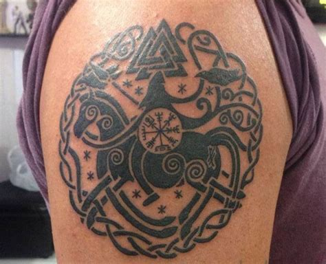 viking rune tattoos my new norse mythology viking w sleipnir