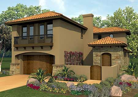mediterranean narrow house 2 3 not so big house plan w36817jg spanish courtyard home plan e