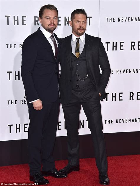Tom Hit The Carpet by Leonardo Dicaprio And Tom Hardy Look Dapper At The