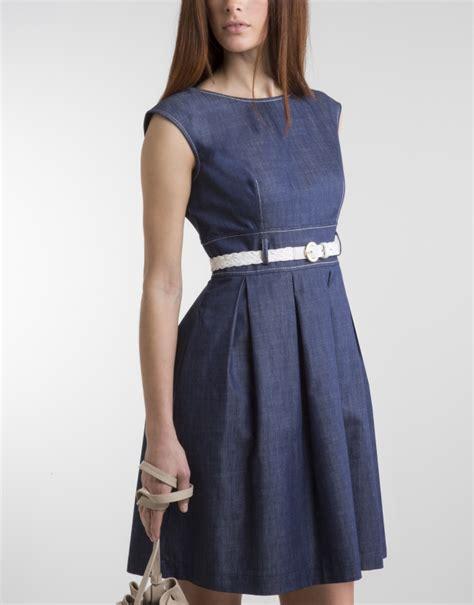 blue dress with skirt dresses roberto verino