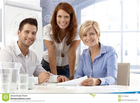 portrait of office team stock photography image 27116622