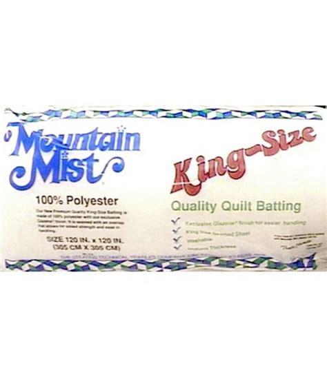 mountain mist polyester quilt batting 120 x120 at joann