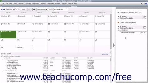 quickbooks tutorial free 2015 quickbooks pro 2015 tutorial using the calendar intuit