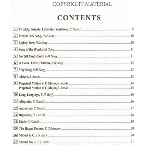 Suzuki Book 1 Songs Suzuki Cello School Volume 1 Shar Sharmusic