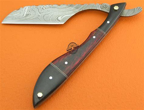 knife razor damascus razor knife custom handmade damascus steel