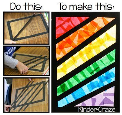 How To Make Paper Windows - for quot stained glass quot rainbows with