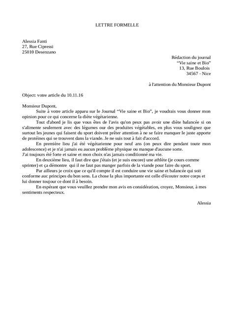 lettere francesi esempi di lettere in preparazione al b1 di francese
