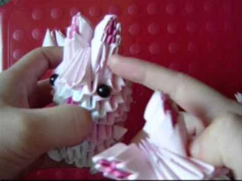 3d origami rabbit tutorial 3d origami pink bunny part 2 youtube
