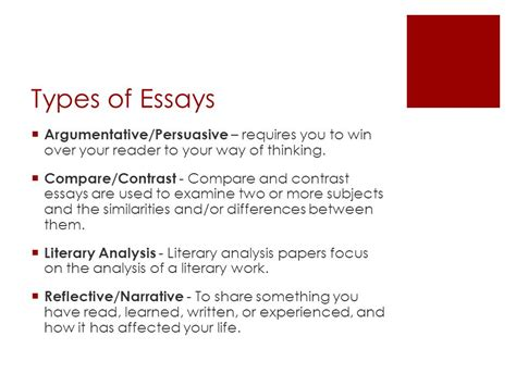 4 Types Of Essays by 4 Types Of Essays