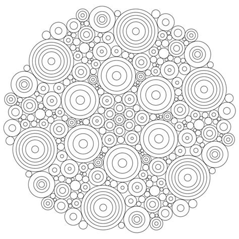 circles mandala coloring pages batch coloring