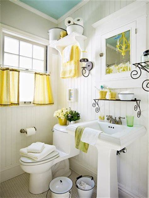 bright  sunny yellow ideas  perfect bathroom decoration