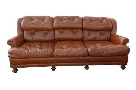 tufted brown leather sofa regency vintage tufted brown leather