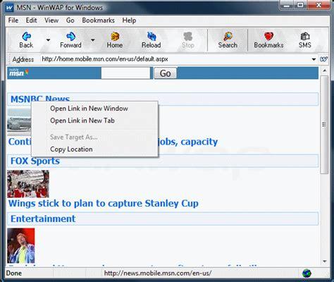pc themes wap in winwap for windows mobile internet wap browser for