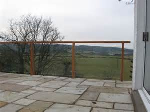Patio Balustrade Patio Terrace With Glass Balustrade And Timber And