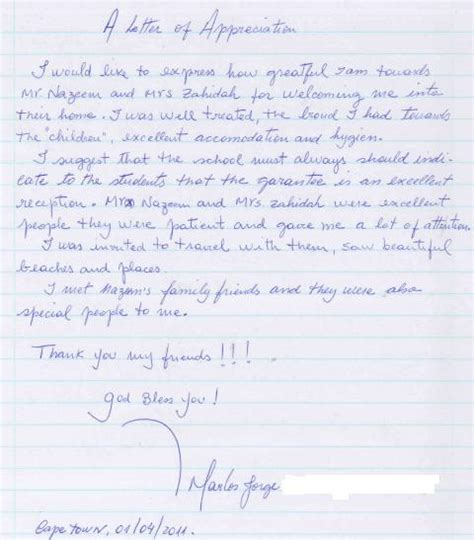 Introduction Letter Host Family Student Testimonial Living With A Host Family Ec Cape