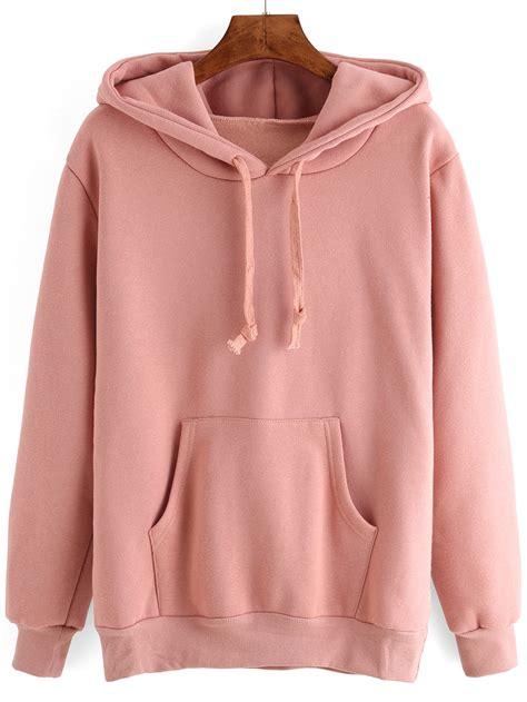 Promo Jaket Hoodie Cat Meow A Pink hooded drawstring pocket pink sweatshirtfor romwe