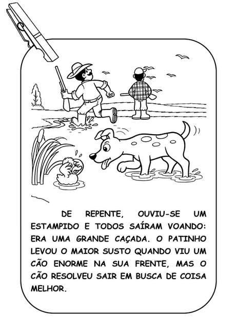 O Patinho Feio Varal de História - Turma da Mônica.