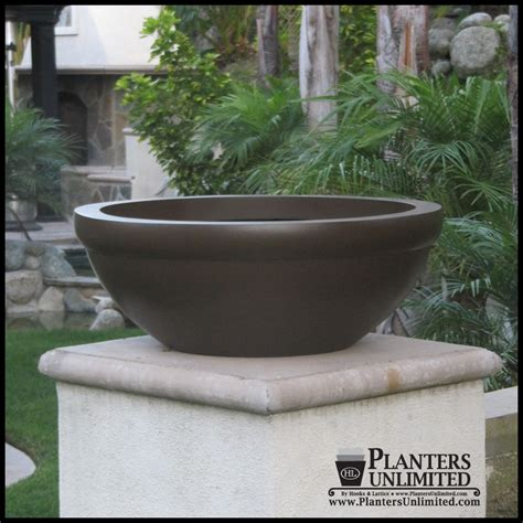 Low Planters by Balboa Low Bowl Commercial Planter Plantersunlimited