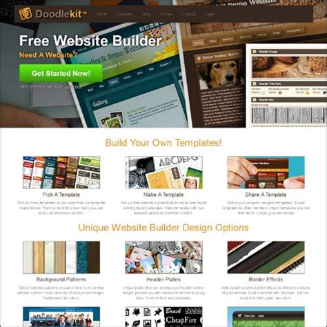 doodle kit free 30 free drag and drop website builders creativecrunk