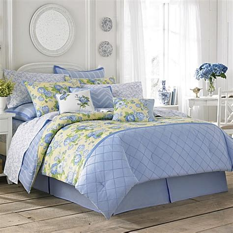 blue and yellow bedding buy laura ashley 174 salisbury twin comforter set from bed
