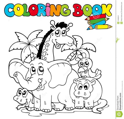 a colored childâ s belly books coloring book with animals 1 stock image image