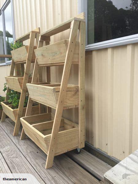 wooden  tier planter box jardiniere palette