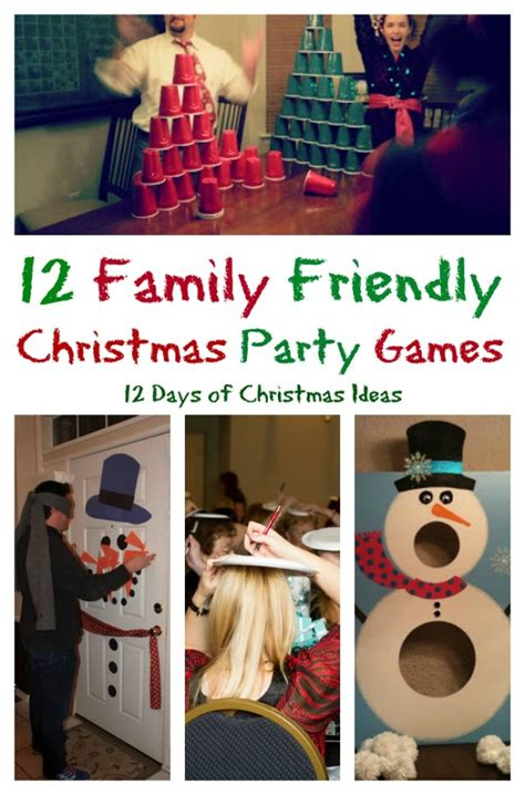diy christmas party games for groups 12 days of 12 family friendly my pinterventures