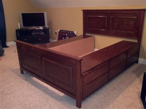diy queen bed how to build a queen platform bed with storage online