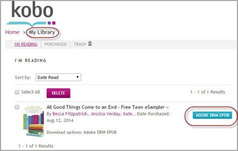 format epub kobo convert ebook to pdf