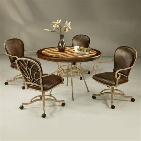 Kitchen Table And Chairs With Casters Furniture Magnificent Kitchen Chairs With Casters Design Ideas Decoriest Home Interior Design