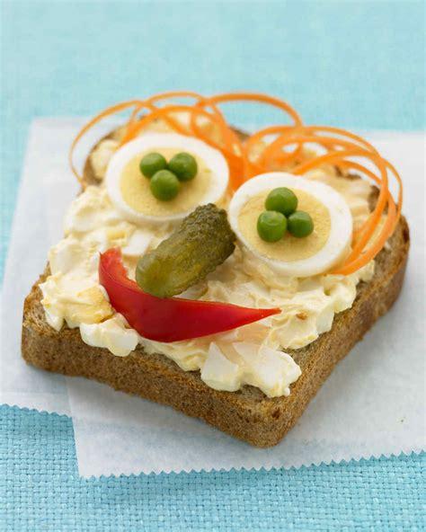 open face egg salad sandwiches recipe martha stewart