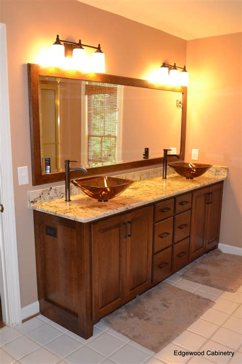 cherry framed mirrors for bathrooms cherry bathroom vanity with matching mirror frame