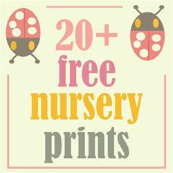 more than 20 free nursery printables room