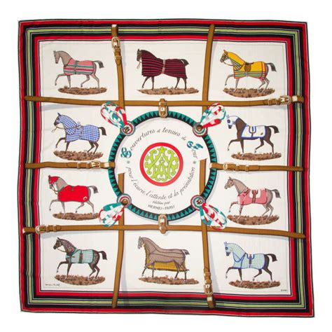 Scraf Motif 4 large hermes and silk scarf with motif at 1stdibs