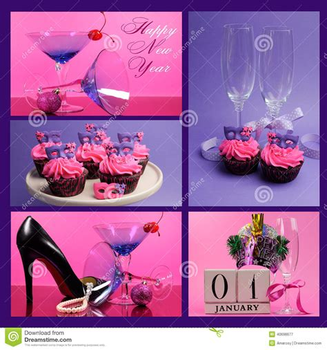 new year collage ideas pink and purple theme ideas images
