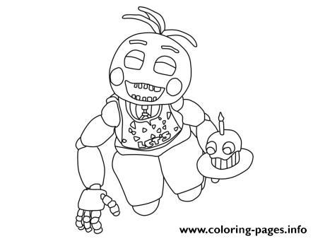 Fnaf 2 Coloring Pages by Five Nights At Freddys Fnaf 2 Birthday Coloring Pages