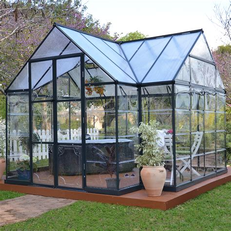 Palram Garden Chalet Greenhouse Hobby Greenhouses 1 000 Backyard Greenhouse Kit