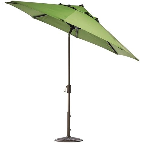 Tilt Patio Umbrella Home Decorators Collection 6 Ft Auto Tilt Patio Umbrella In Dolce Mango Sunbrella With Bronze