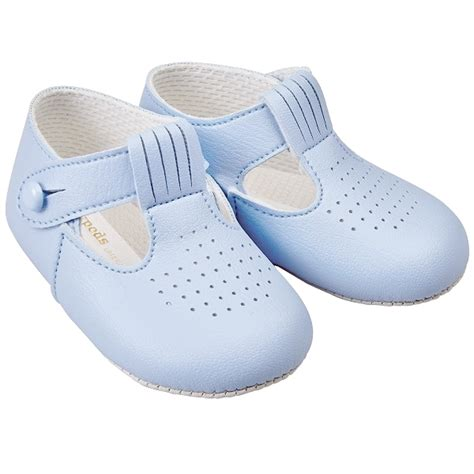 baby pram shoes baby boys sky blue t bar shoes baypods