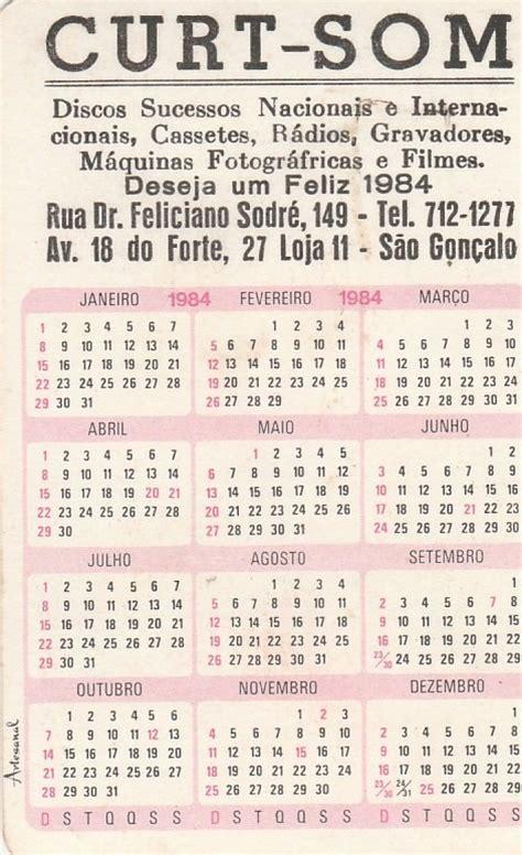 Calendario De 1984 Calend 225 Bolso 1984 Imagem Paisagem S 227 O Gon 231 Alo