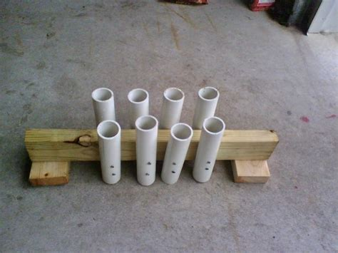 How To Build A Fishing Pole Rack by Pvc Fishing Rod Holder 8 Steps