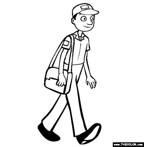 mailman clipart black and white clipart best