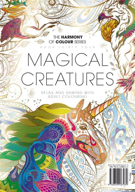 colouring book magical creatures magazine digital