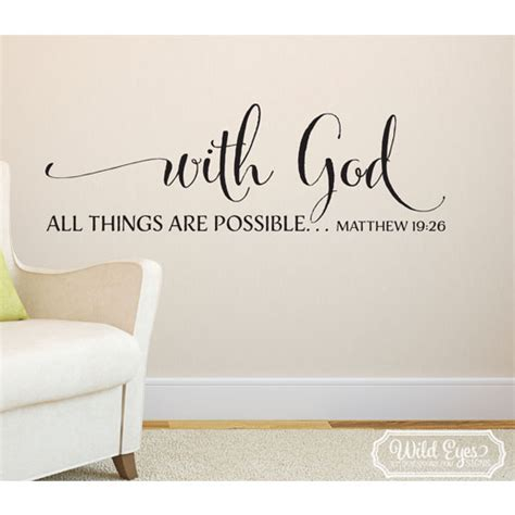 matthew 19v26 vinyl wall decal 3 with god all things are possible