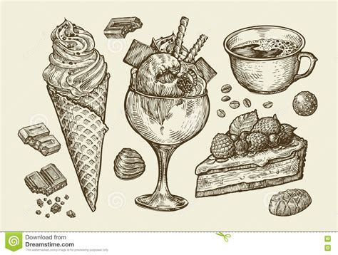 zbrush sketchbook ice cream sundae by evanstanley on drawn food pie pencil and in color drawn food pie