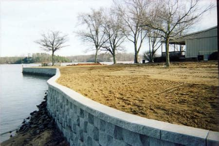 boat service lake wylie retaining walls