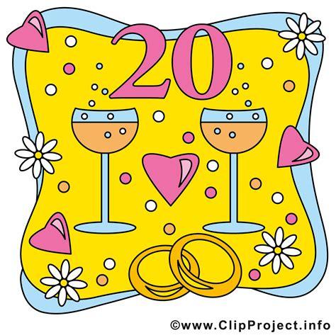 Hochzeit 20 Jahre by Porzellan Hochzeit 20 Jahre Ehejubileum Bild Clipart