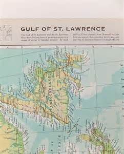 vintage gulf of st map large map of the gulf of st
